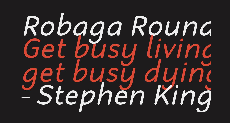 Robaga Rounded Italic