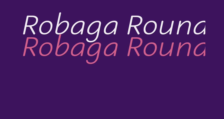 Robaga Rounded Light Italic