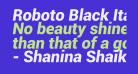 Roboto Black Italic