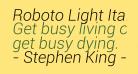 Roboto Light Italic