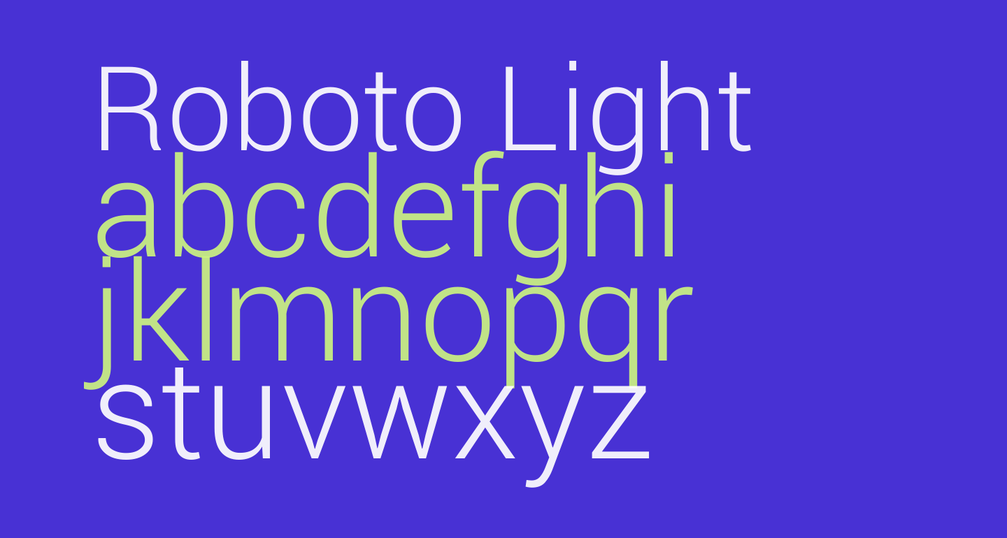 Roboto Light