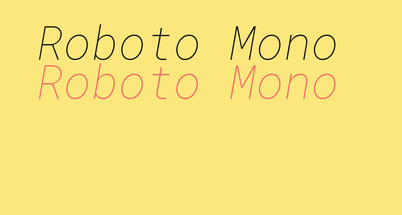 Roboto Mono Thin Italic