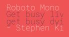 Roboto Mono Thin