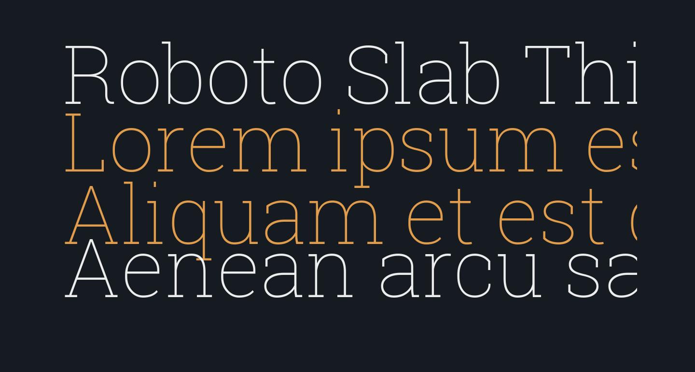 Roboto Slab Thin