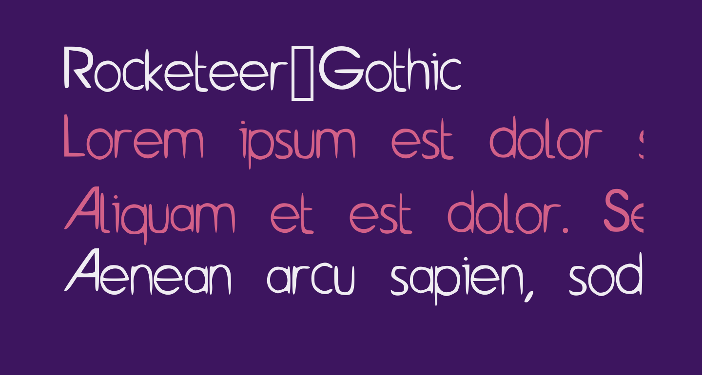 Rocketeer_Gothic
