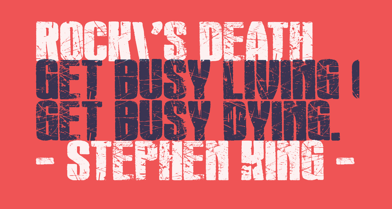 Rock's Death
