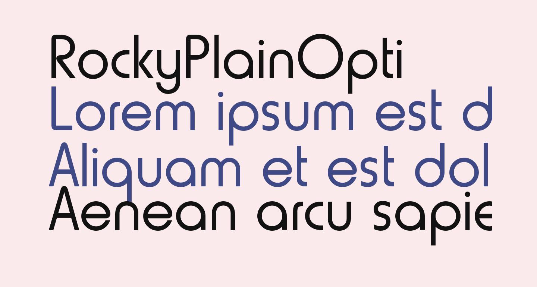 RockyPlainOpti