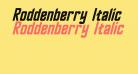 Roddenberry Italic