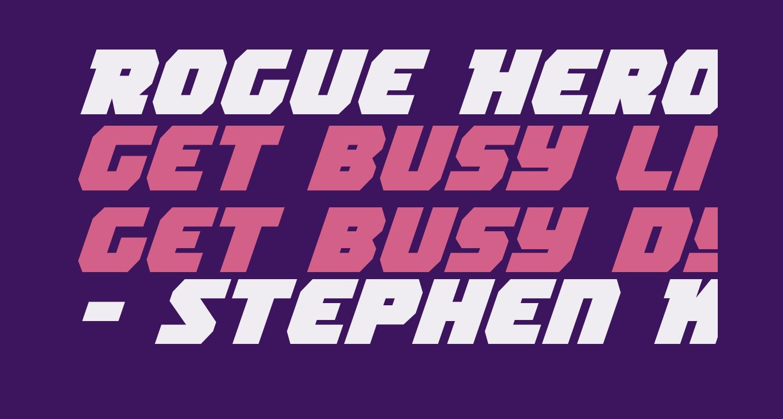 Rogue Hero Expanded Italic