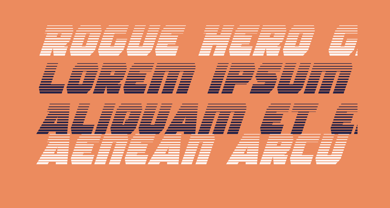 Rogue Hero Gradient Italic