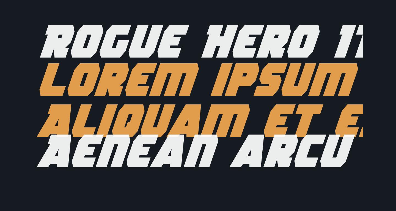 Rogue Hero Italic