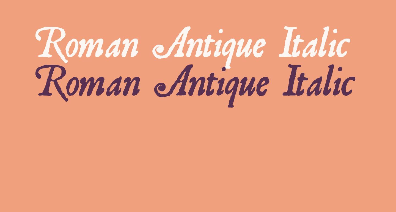 Roman Antique Italic