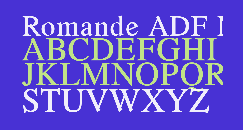 Romande ADF No2 Std Bold
