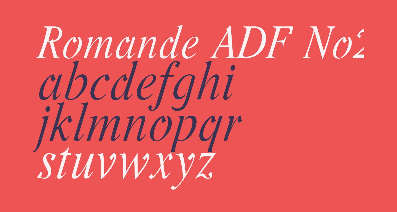 Romande ADF No2 Std Italic