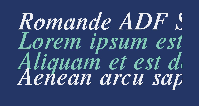 Romande ADF Std Bold Italic