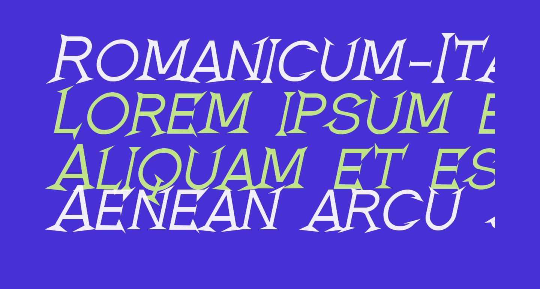 Romanicum-Italic