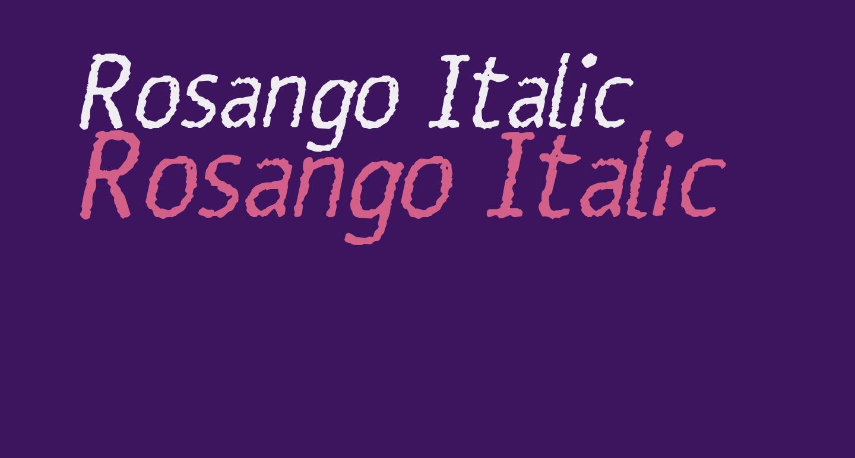 Rosango Italic