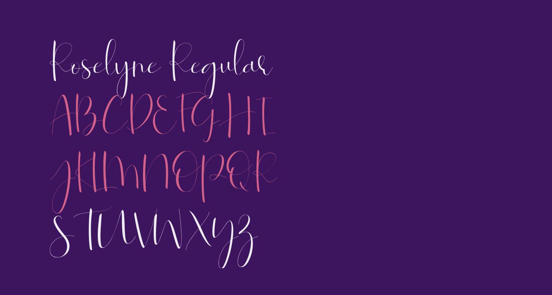 Roselyne-Regular