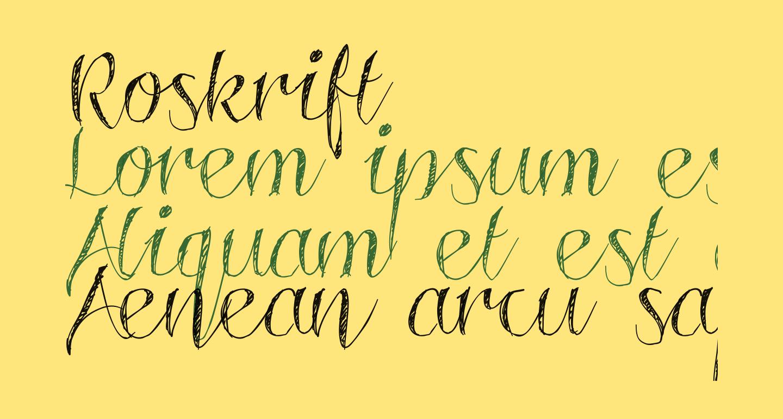 Roskrift