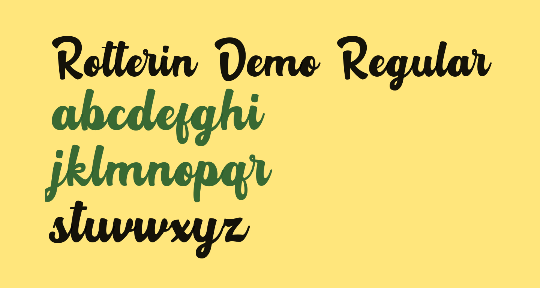 Rotterin Demo Regular