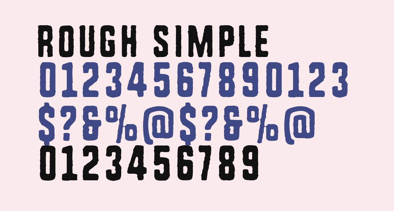 Rough Simple
