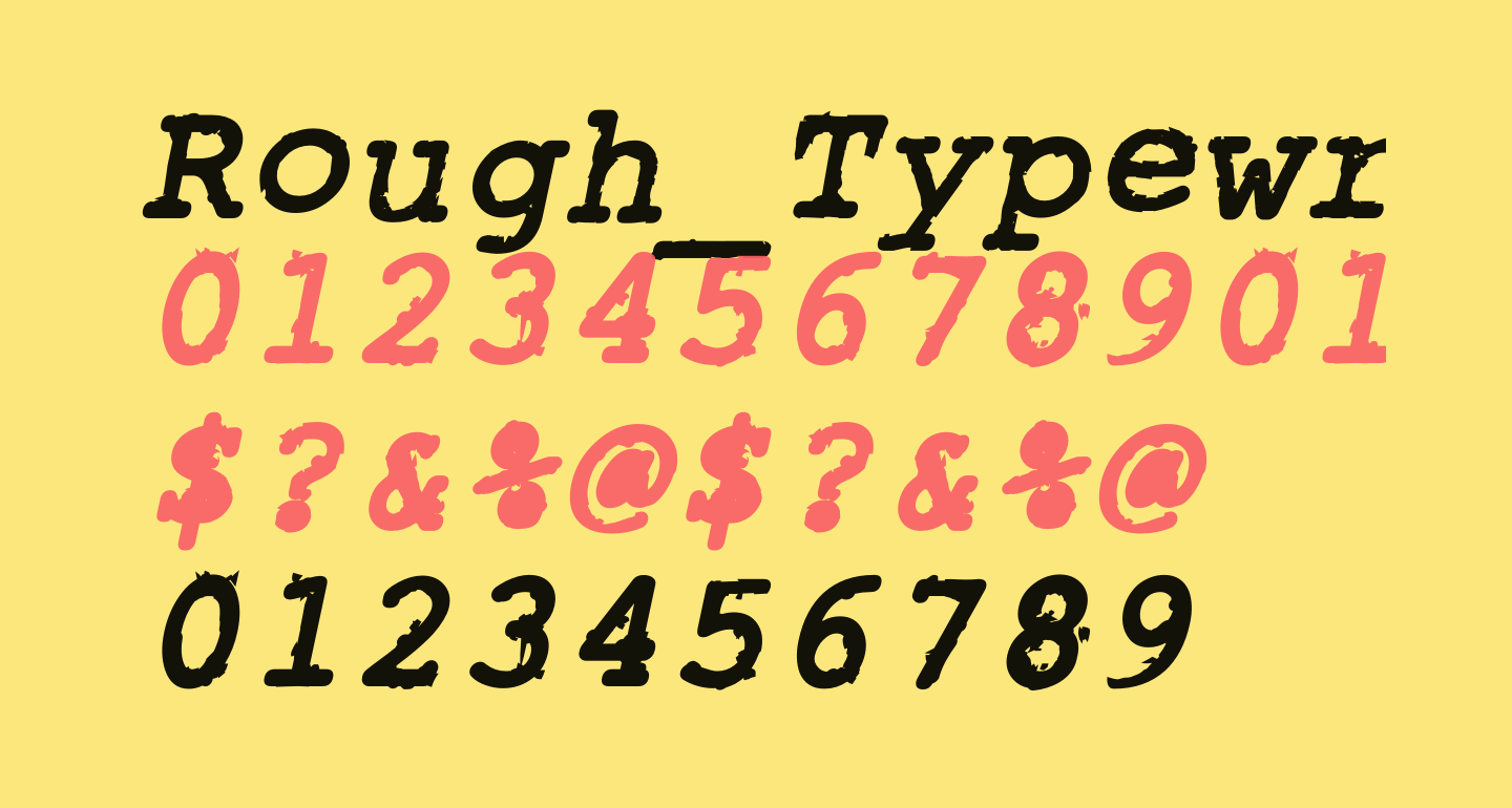 Rough_Typewriter Bold Italic