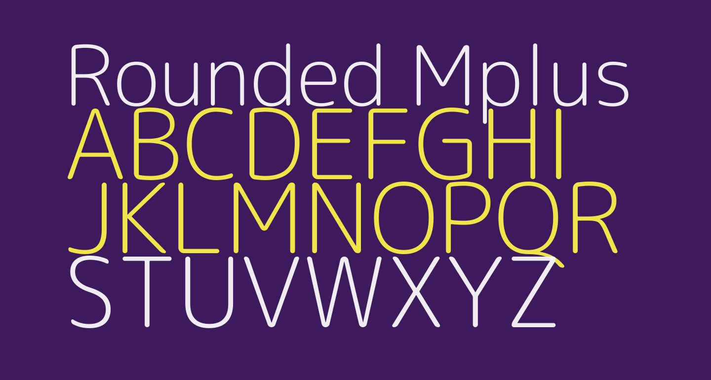 Rounded Mplus 1c Light