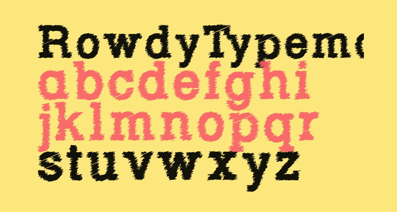 RowdyTypemachine-Bold