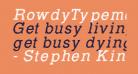 RowdyTypemachine-Italic
