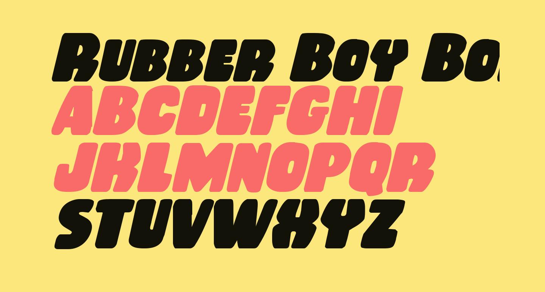 Rubber Boy Bold Italic