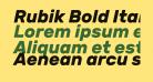 Rubik Bold Italic