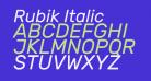 Rubik Italic