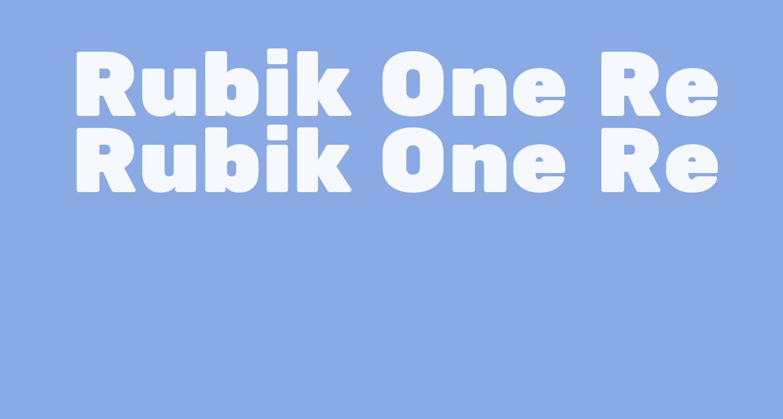 Rubik One Regular