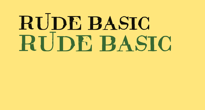 Rude Basic