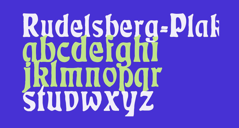 Rudelsberg-Plakatschrift