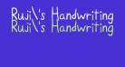 Ruji's Handwriting Font