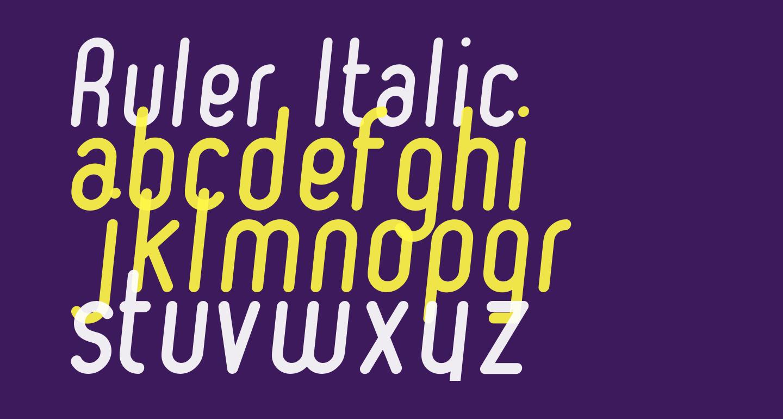 Ruler Italic