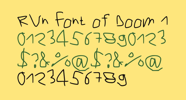 RVn Font of Doom 1 Regular