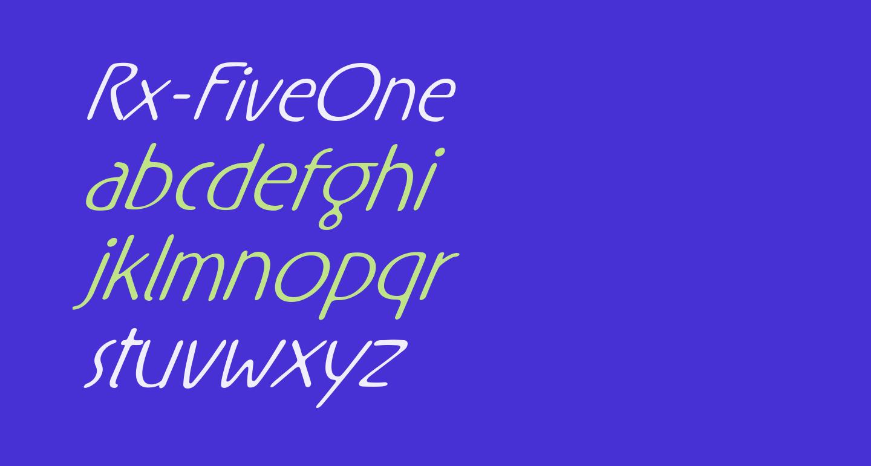 Rx-FiveOne