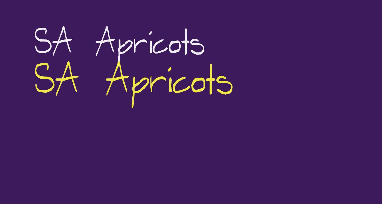 SA Apricots
