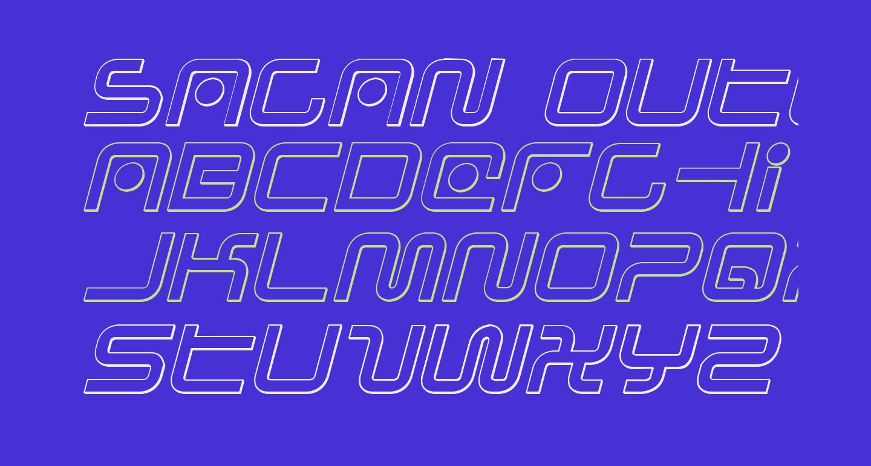 Sagan Outline Italic