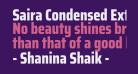 Saira Condensed ExtraBold
