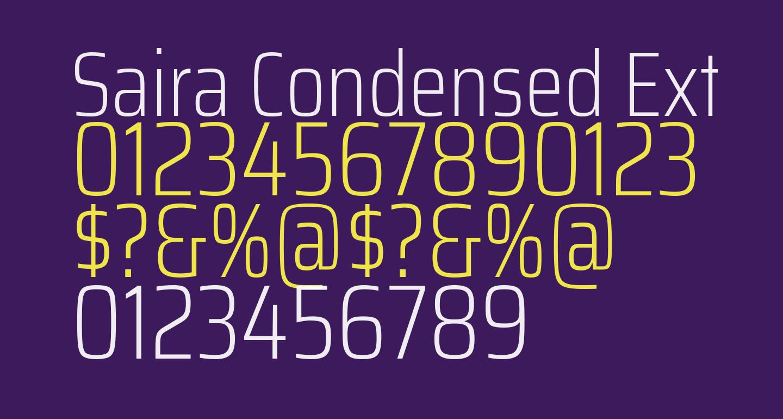 Saira Condensed ExtraLight