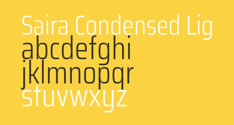 Saira Condensed Light