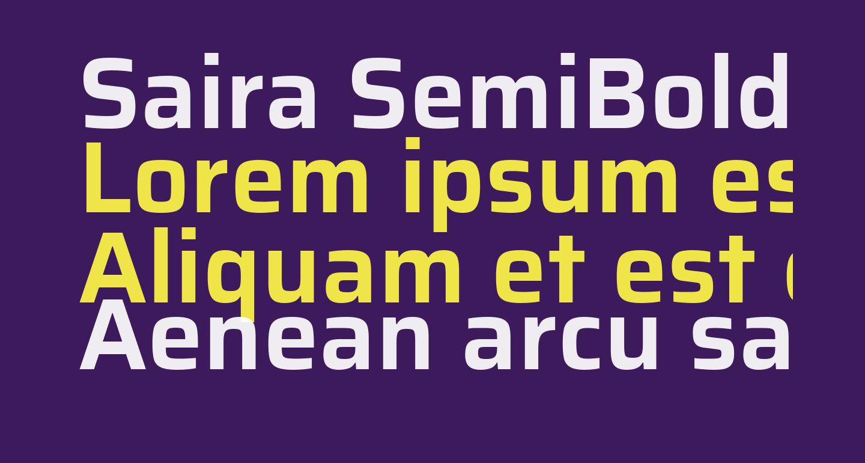 Saira SemiBold