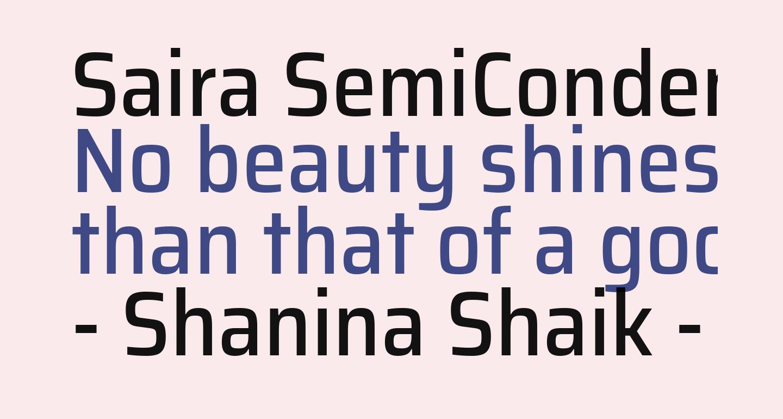 Saira SemiCondensed Medium