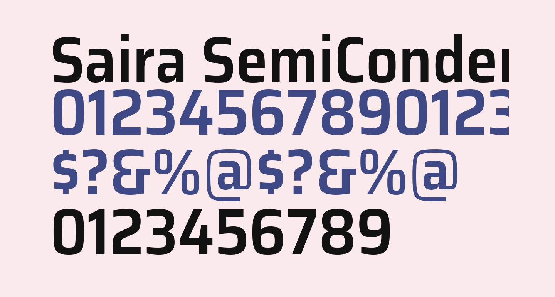 Saira SemiCondensed SemiBold