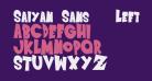 Saiyan Sans - Left ObliqueRegular
