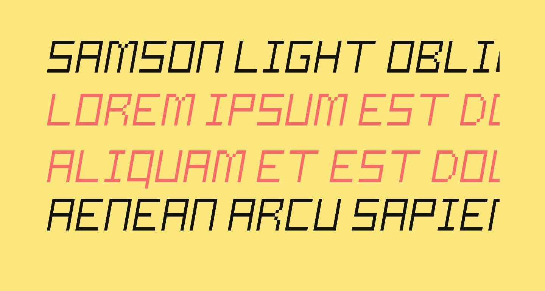 Samson Light Oblique