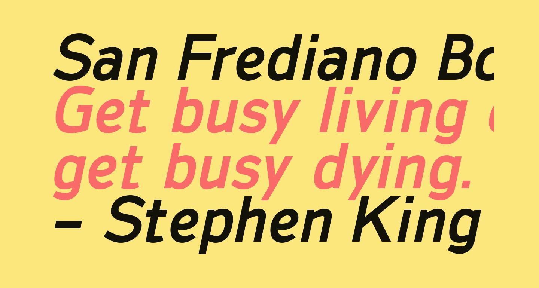 San Frediano Bold Italic